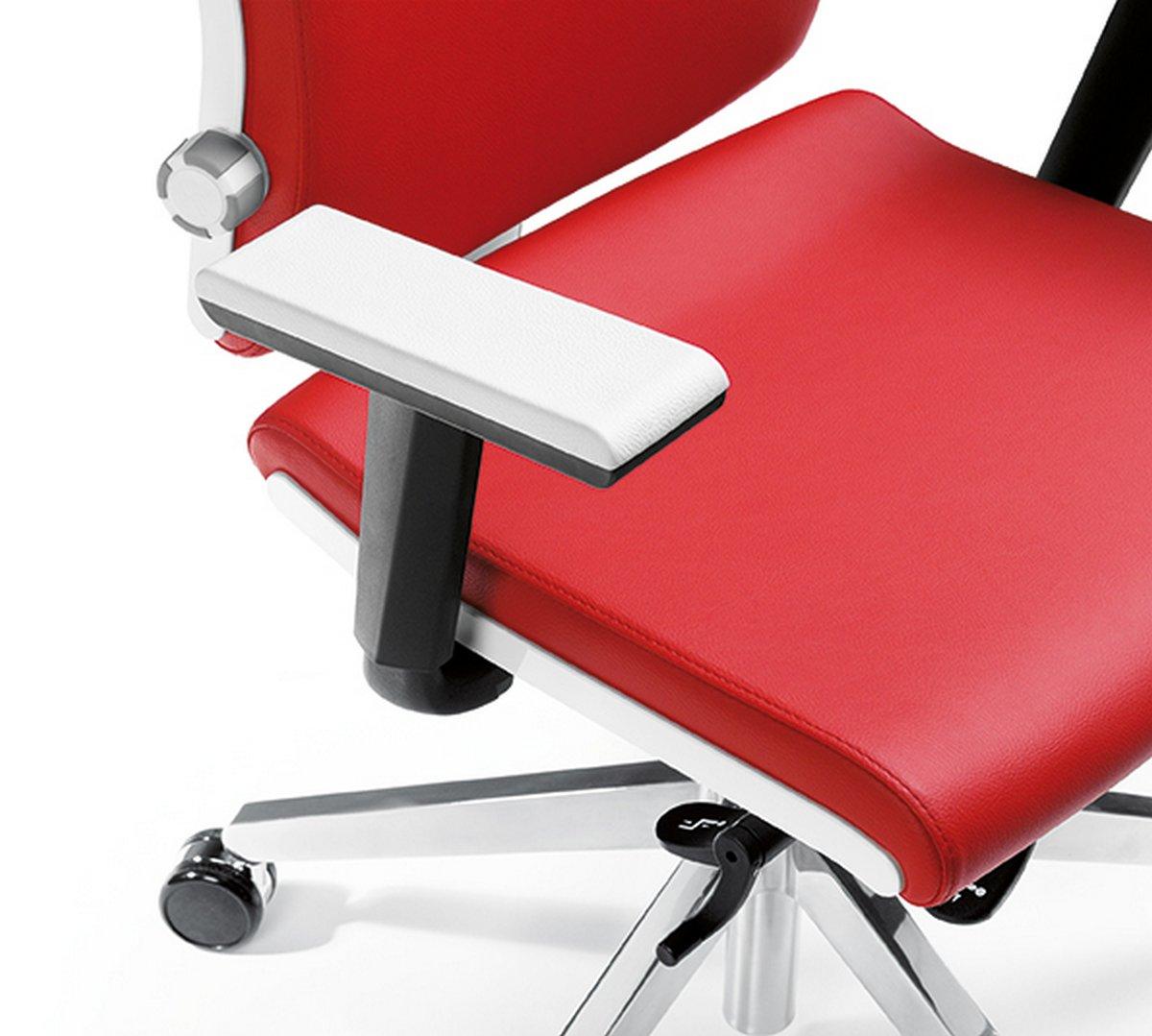 Fotel biurowy obrotowy BELITE czerwony fotel biurowy