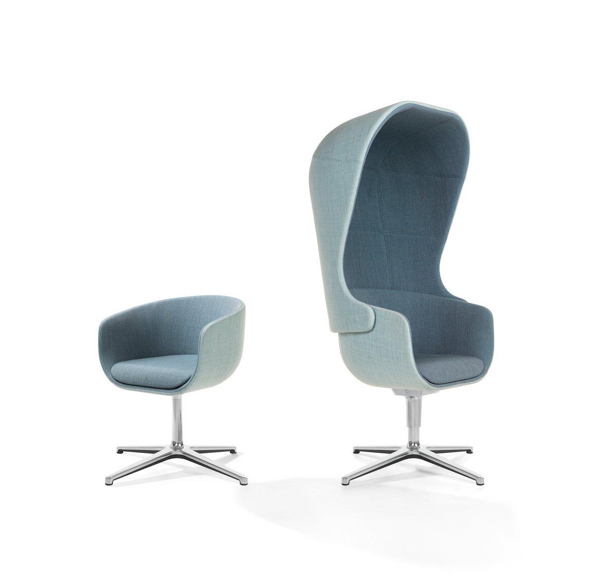 Niebieski fotel konferencyjny Nu, niebieskie krzesło konferencyjne NU
