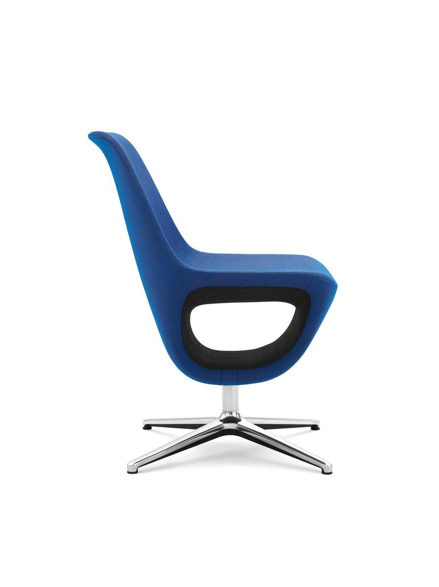 Niebieskie krzesło konferencyjne Pelikan, niebieski fotel konferencyjny Pelikan