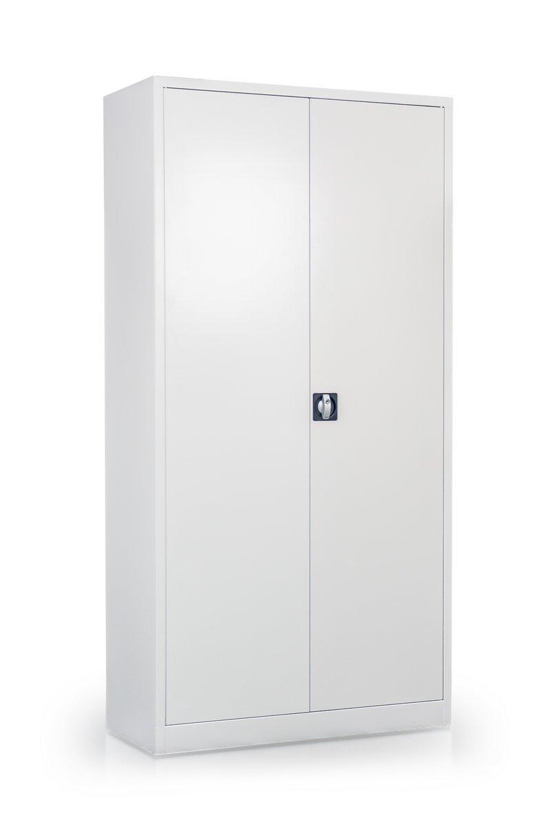 Metalowe szafy regały metalowe biurowe zamykane drzwiami skrzydłowymi