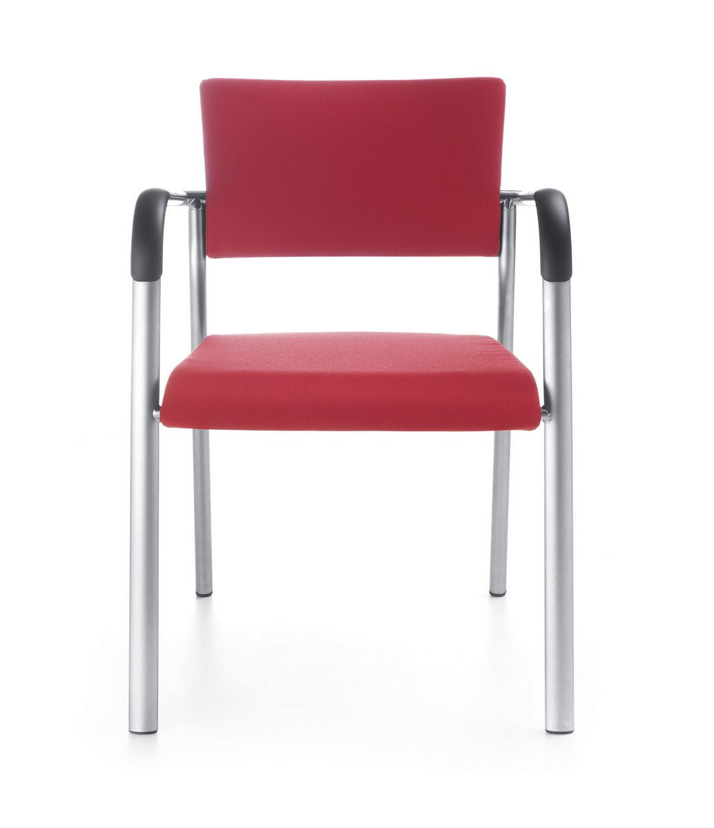 Czerwone krzesła konferencyjne KALA, czerwone fotele konferencyjne KALA