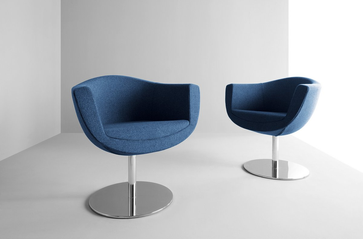 Niebieskie fotele konferencyjne SORRISO, niebieskie krzesła konferencyjne Sorriso