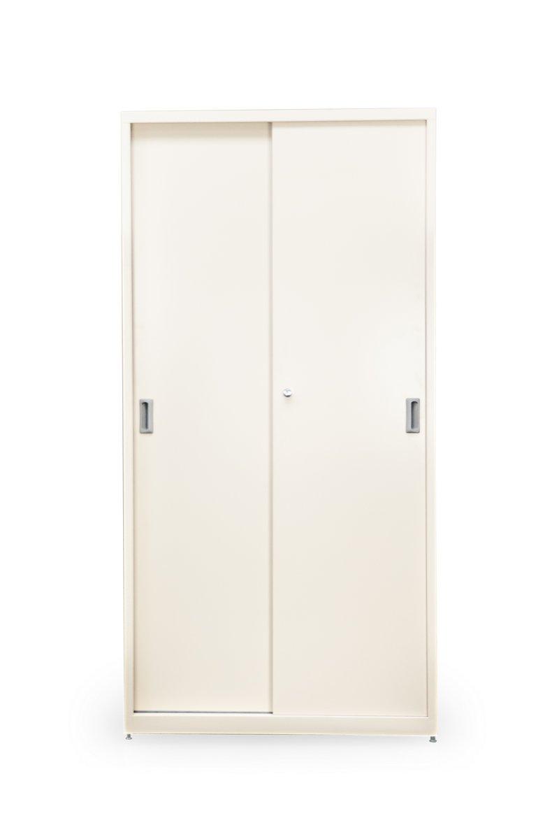 Metalowe szafy regały metalowe biurowe zamykane drzwiami żaluzjowymi