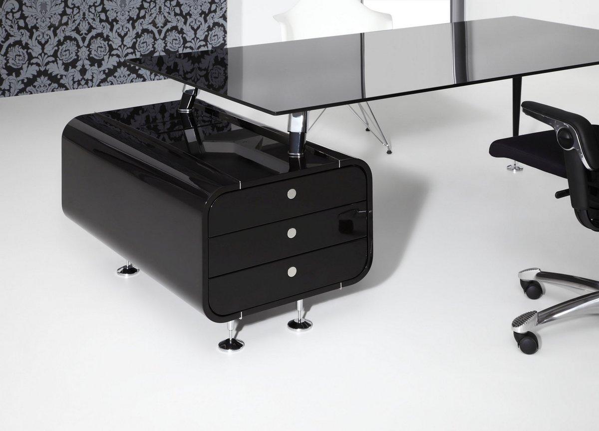 Ekskluzywne meble gabinetowe Astero, czarne biuro do gabinetu Astero