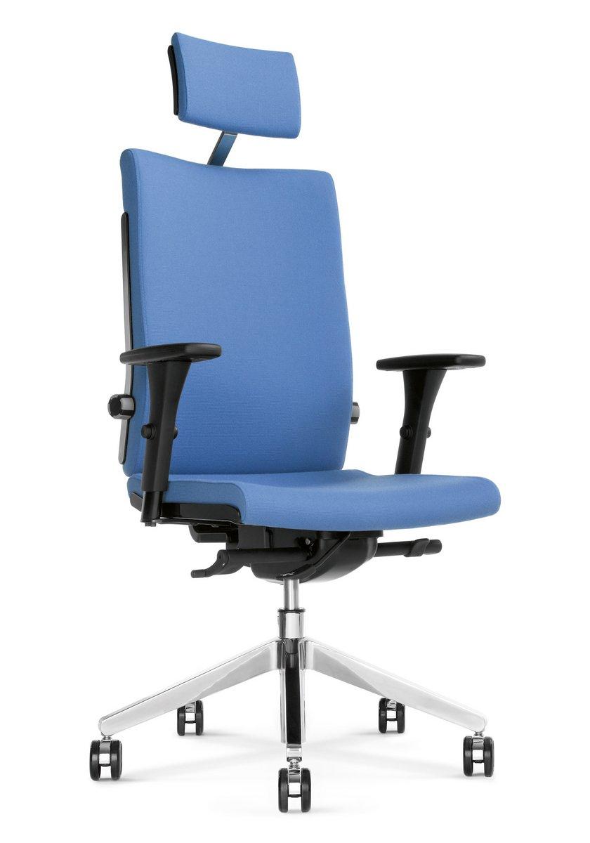 Fotel biurowy obrotowy BELITE niebieski fotel biurowy z zagłówkiem