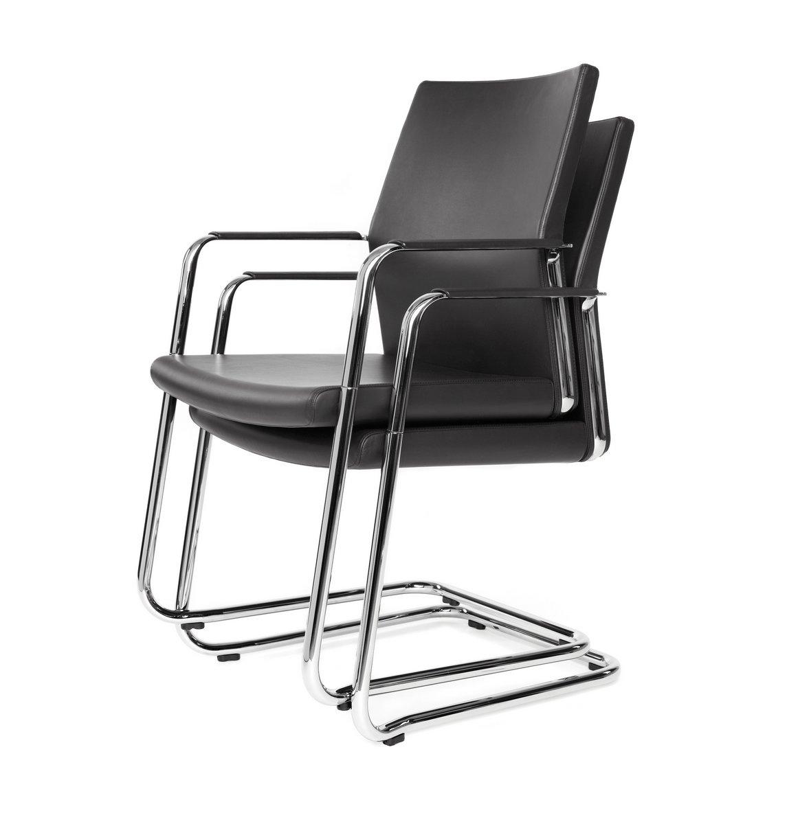 Czarne fotele konferencyjne myTURN
