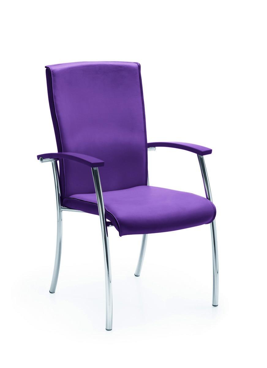 Fioletowe rzesło konferencyjne NIKO, fioletowe fotele konferencyjne NIKO