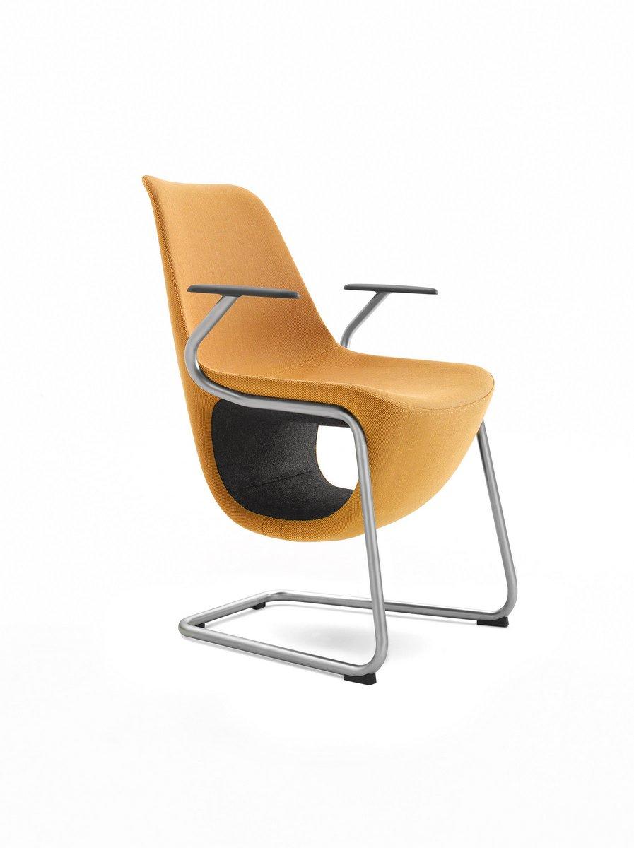 Żółte krzesło konferencyjne Pelikan, żółty fotel konferencyjny Pelikan