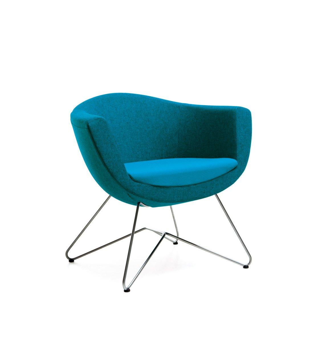 Niebieski fotel konferencyjny Sorriso, elegancki fotel konferencyjny Sorriso