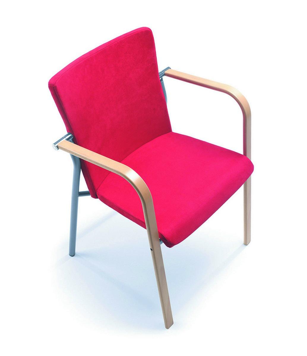 Różowe krzesła konferencyjne KALA, różowe fotele konferencyjne KALA