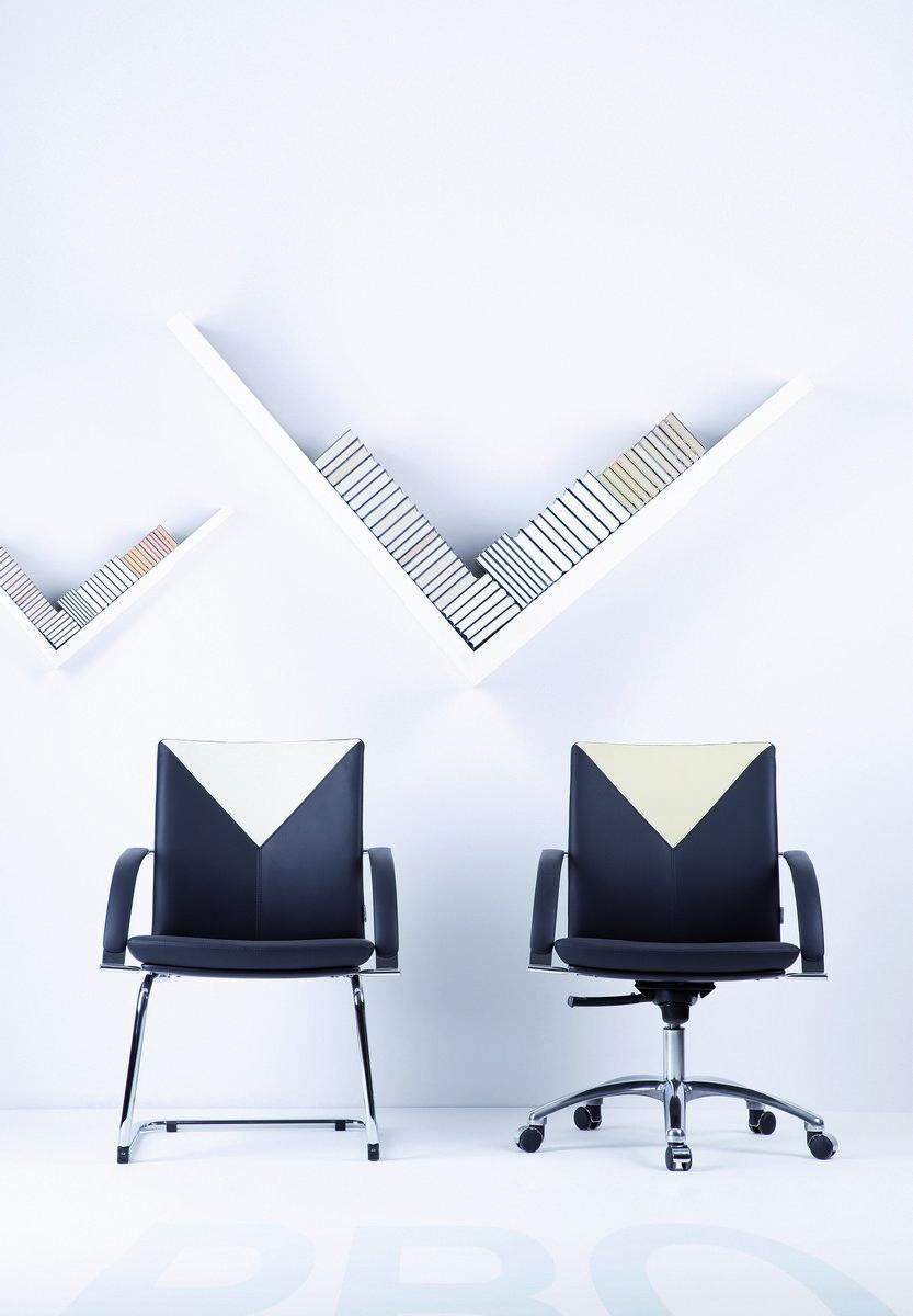 Fotel konferencyjny na płozach PRO, krzesło konferencyjne na płozach PRO