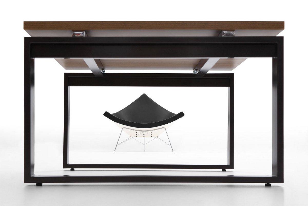 Stół konferencyjny systemu mebli biurowych Pluris na stelażu prostokąt