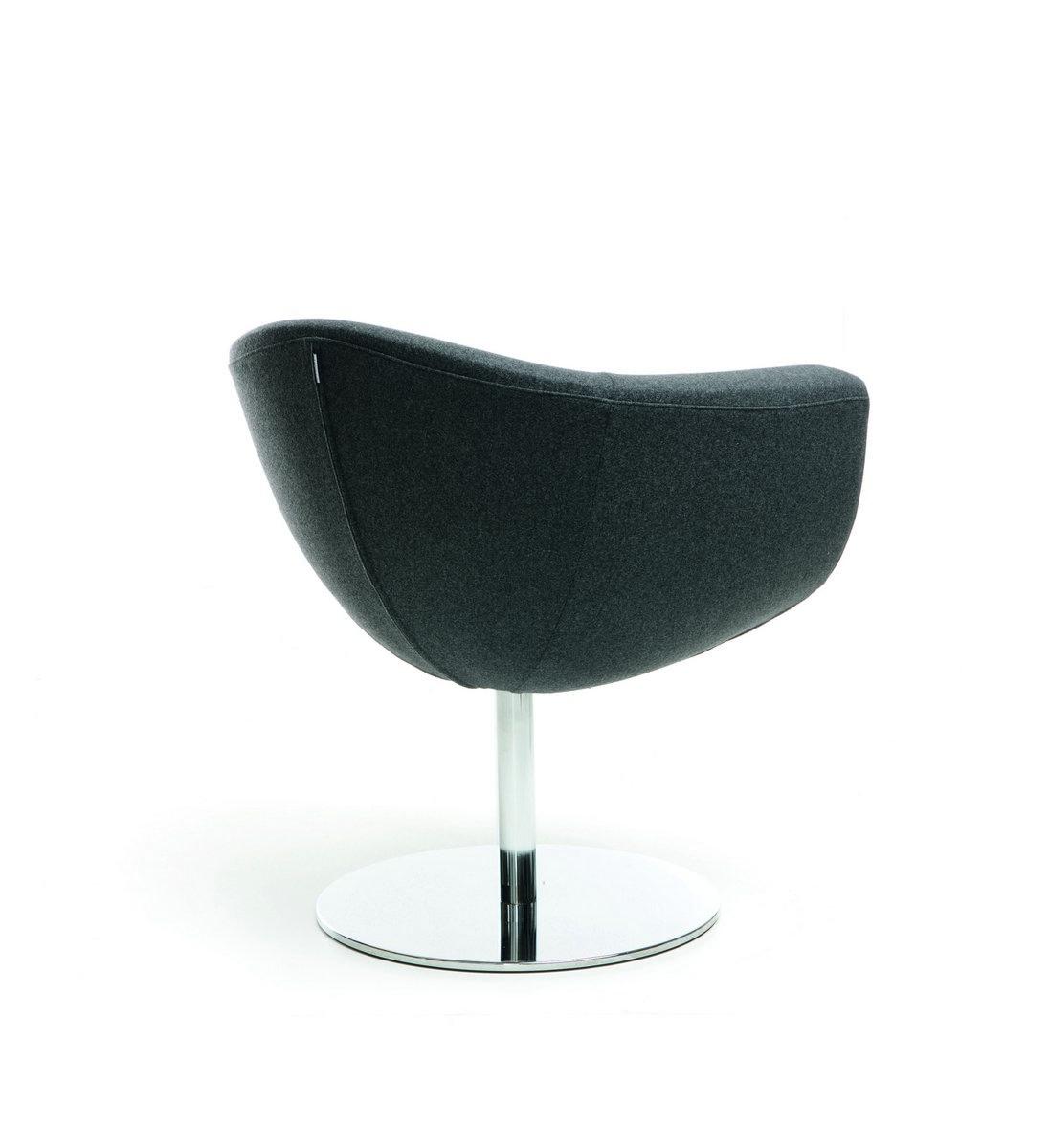 Szary fotel konferencyjny Sorriso, elegancki fotel konferencyjny Sorriso