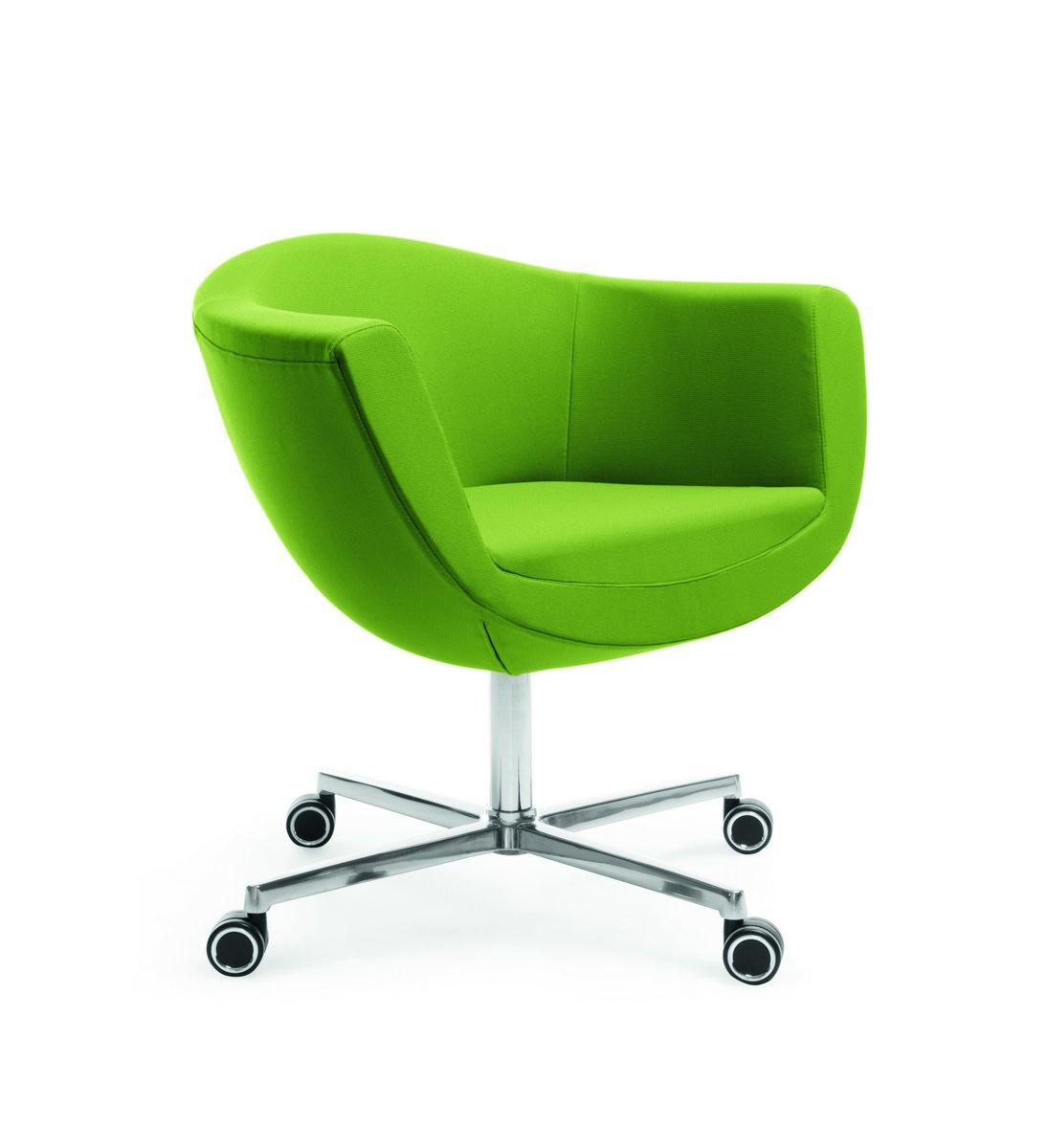 Zielony fotel konferencyjny Sorriso, elegancki fotel konferencyjny Sorriso