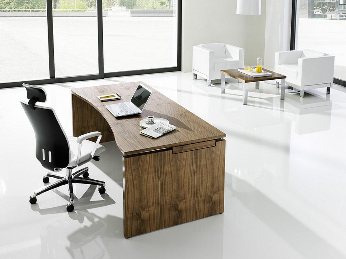 Stylowe, klasyczne meble gabinetowe SQart MANAGERIAL biurka do gabinetu