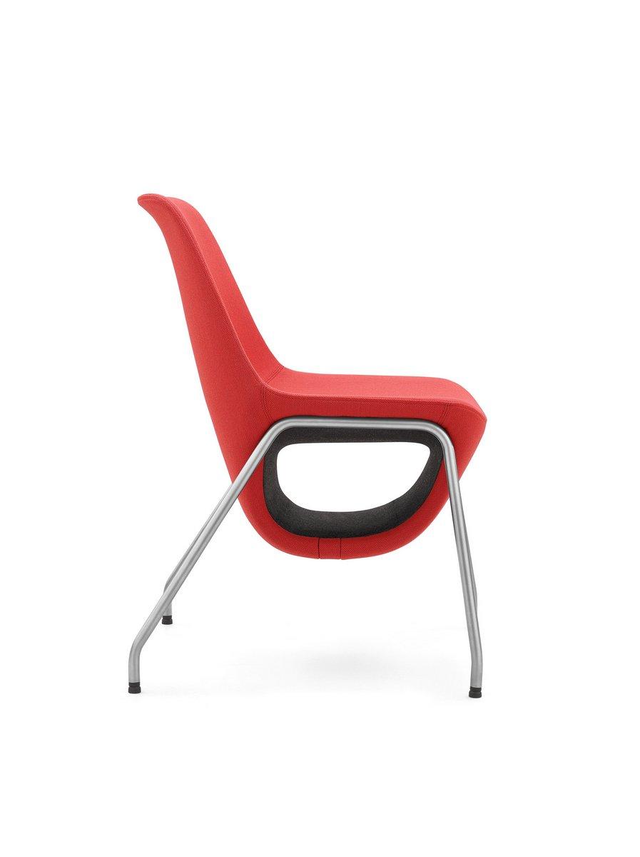 Czerwone krzesło konferencyjne Pelikan, czerwony fotel konferencyjny Pelikan