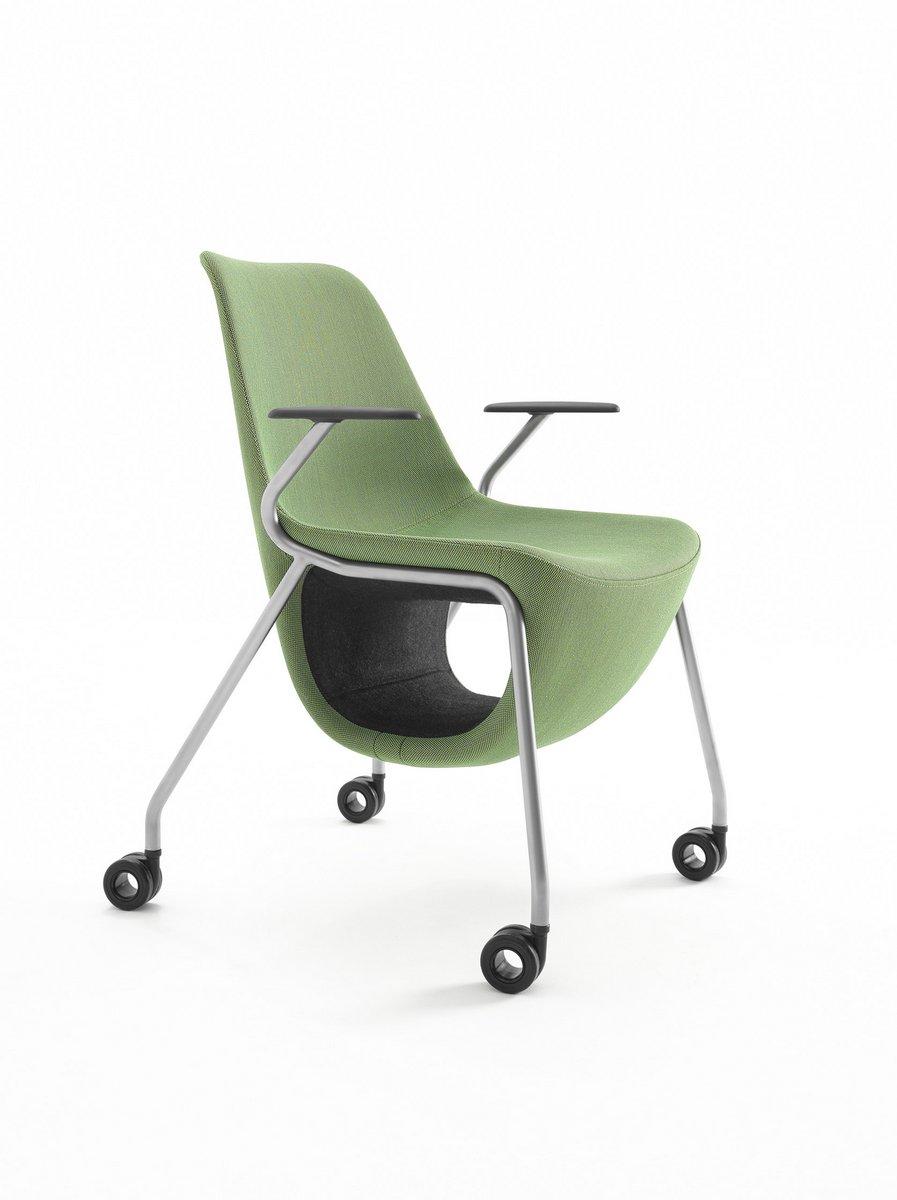 Zielone krzesło konferencyjne Pelikan, zielony fotel konferencyjny Pelikan