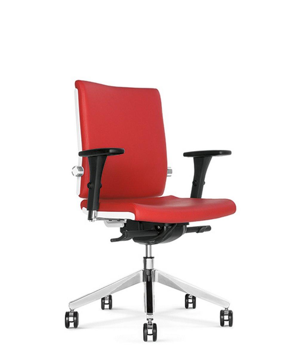 Fotel biurowy obrotowy BELITE czerwony fotel do biura