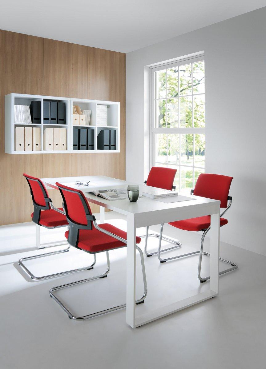 Krzesła konferencyjne Xenon, czerwone krzesła konferencyjne Xenon