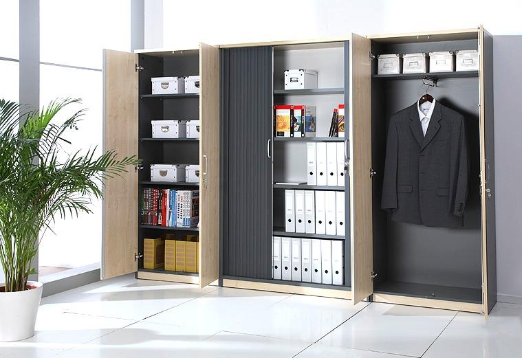 Regały biurowe z drzwiami przesuwnymi FURNIKO