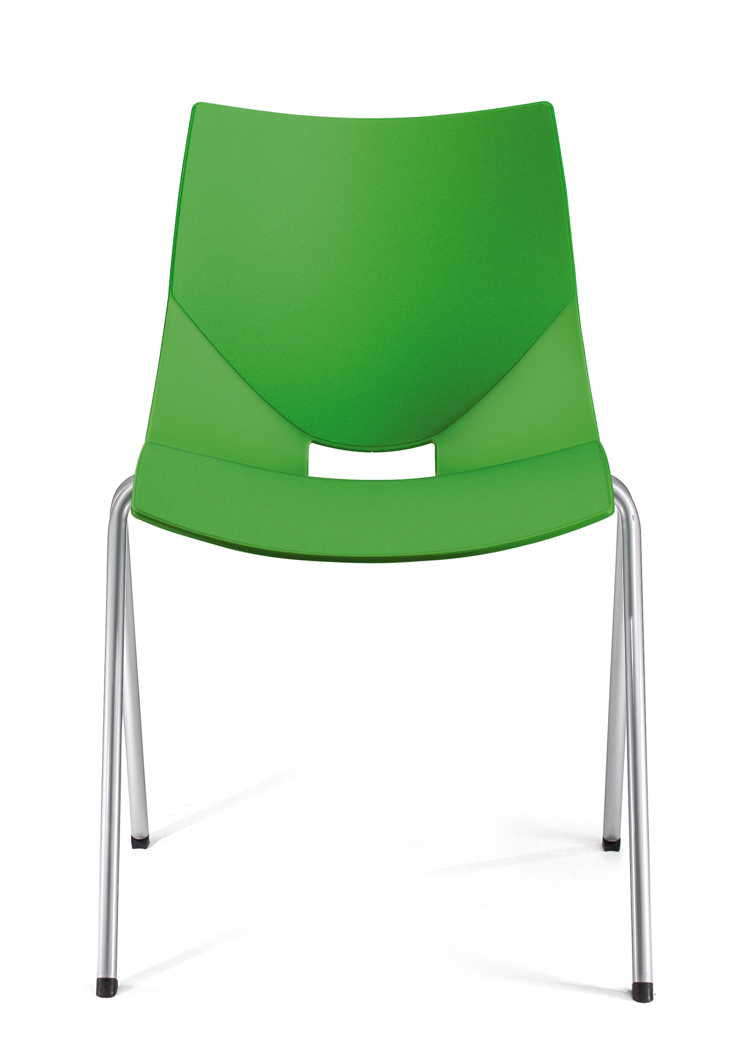 Krzesło konferencyjne SHELL, zielone plastikowe oryginalne krzesło konferencyjne Shell