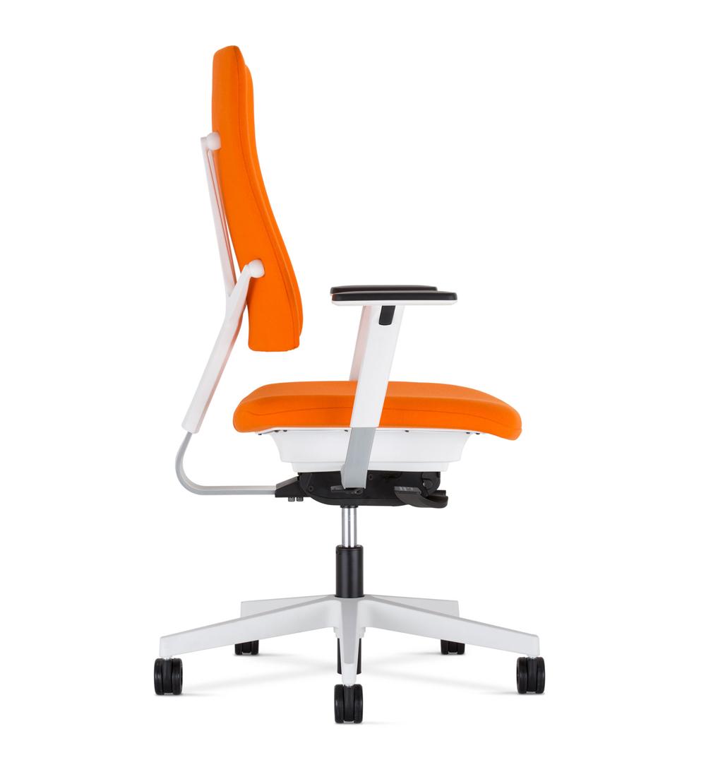 Krzesła obrotowe 4me - pomarańczowe krzesło oparcie