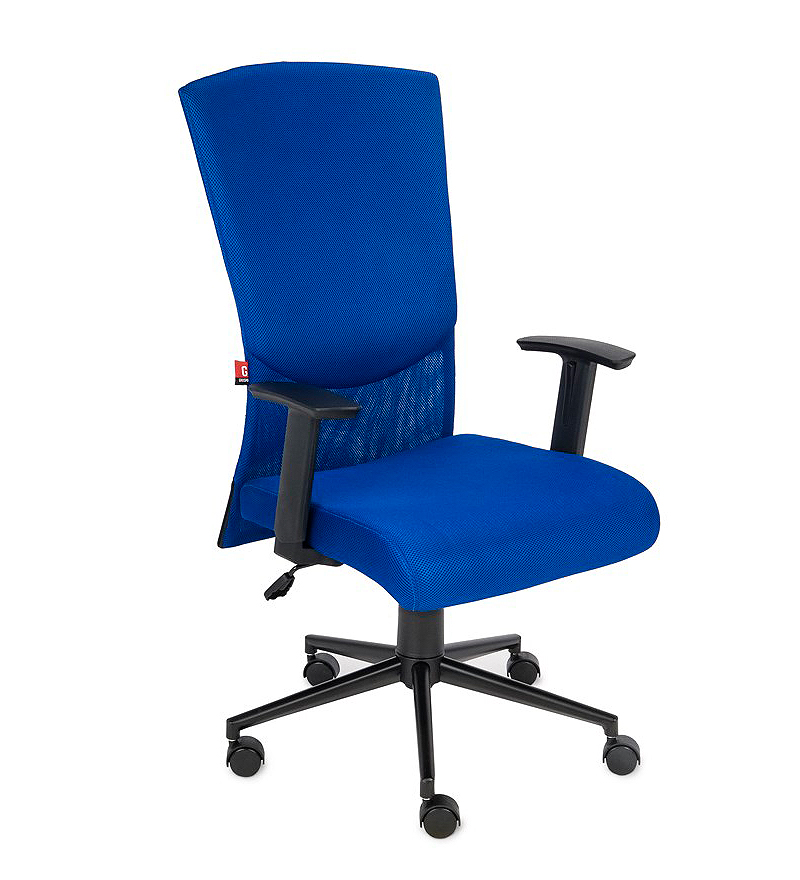 Krzesło biurowe obrotowe Basic - niebieski fotel biurowy