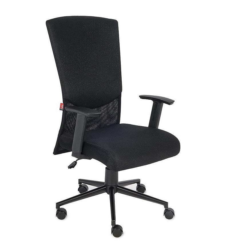 Krzesło biurowe obrotowe Basic - czarny fotel biurowy profil krzesła