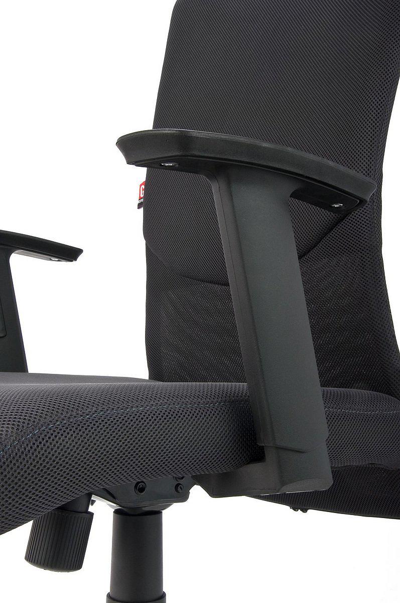 Krzesło biurowe obrotowe Basic - czarny fotel biurowy, szczegóły krzesła