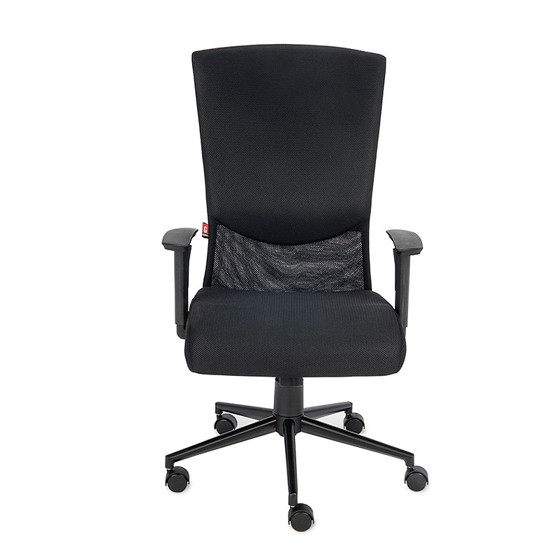 Krzesło biurowe obrotowe Basic - czarny fotel biurowy