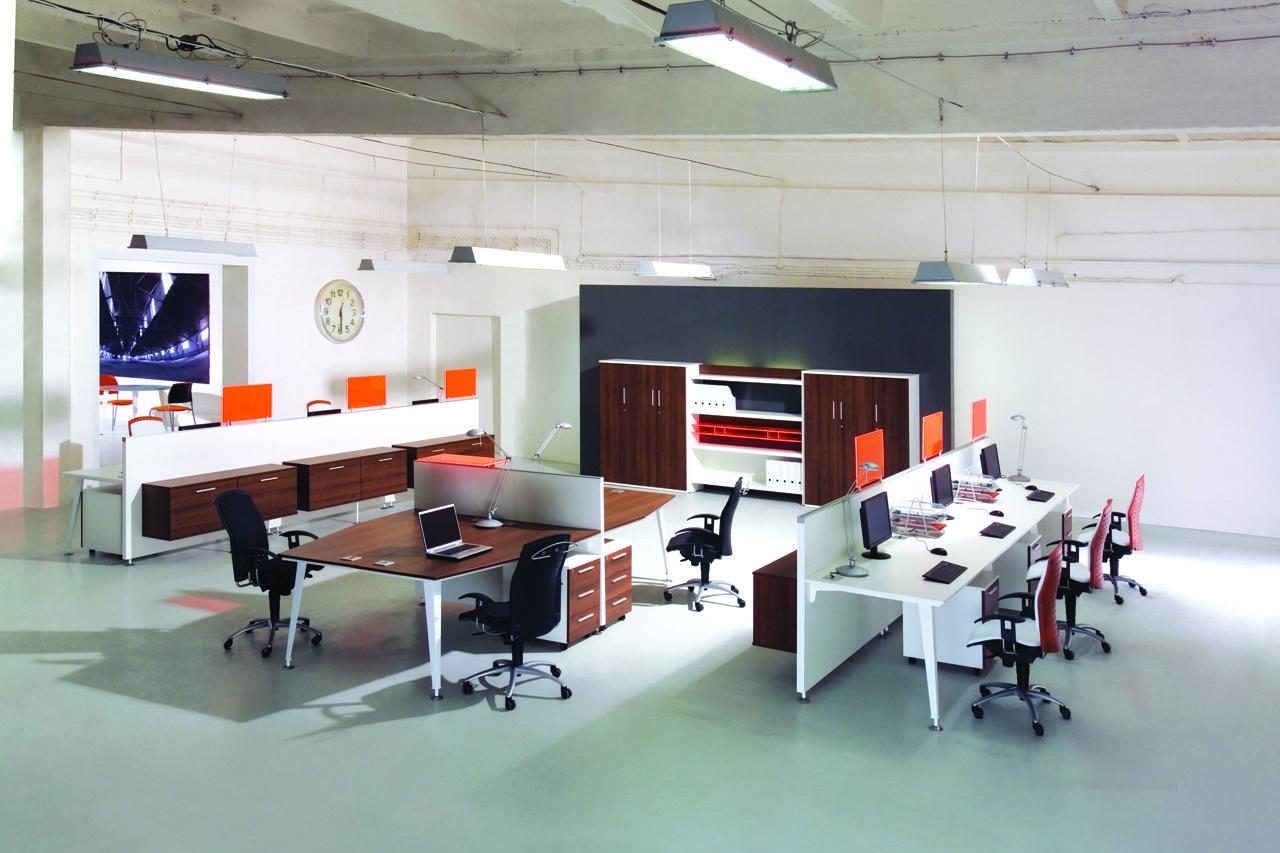Meble biurowe EVO do biura, biurka bench EVO