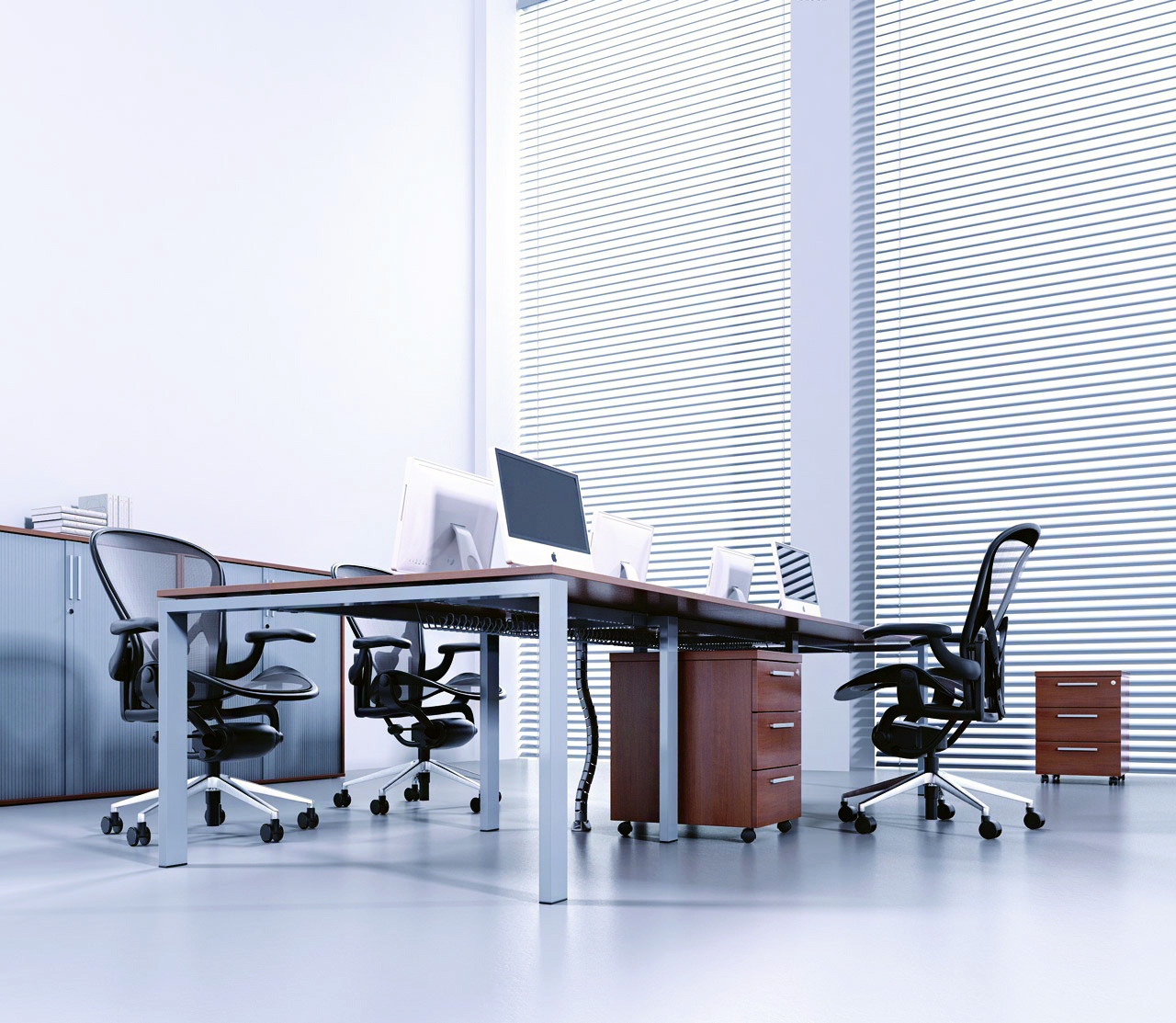 Nowoczesne meble gabinetowe PROFIL, system mebli gabinetowych PROFIL, biurka gabinetowe PROFIL