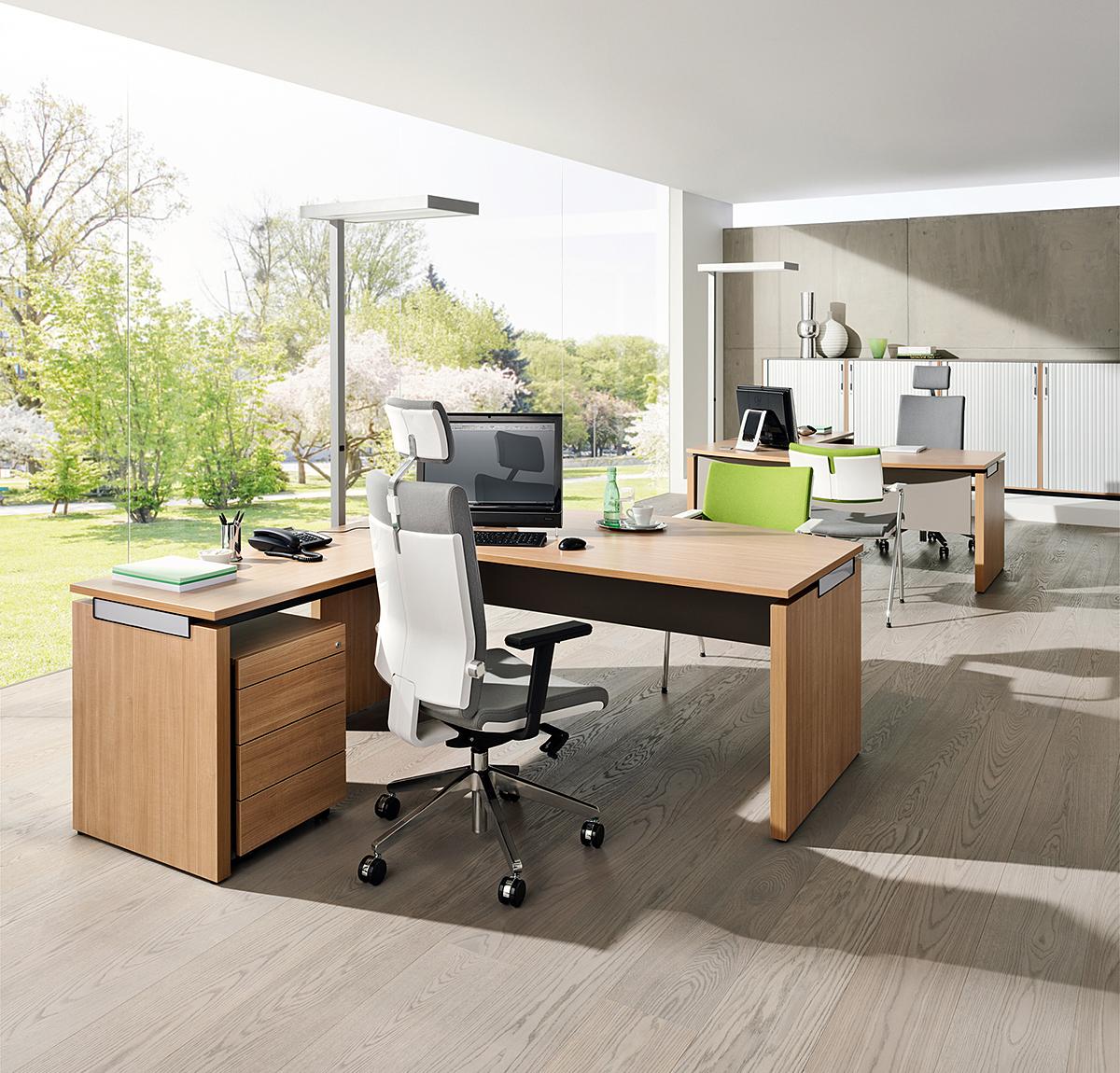 Nowoczesne meble gabinetowe SQart MANAGERIAL do biura i gabinetu, biurka do gabinetu