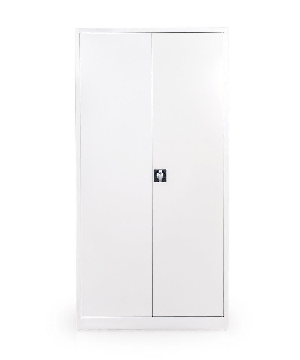 Metalowe szafy biurowe na akta zamykane drzwiami skrzydłowymi