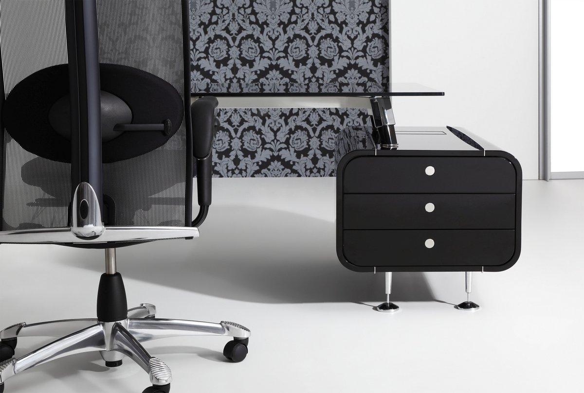 Ekskluzywne meble gabinetowe Astero, czarne meble luksusowe do gabinetu Astero