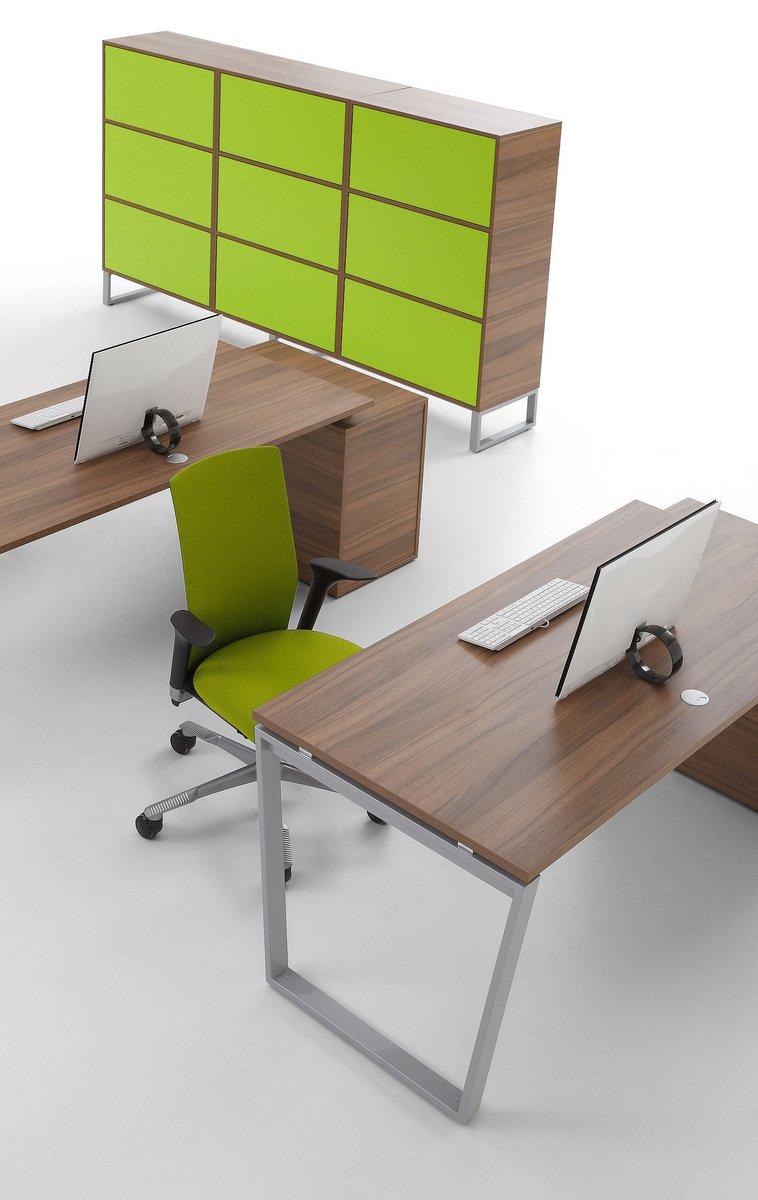 Pojedyncze biurka dla pracownika szafka do biurka stelaż biurka w kształcie trapez odwrócony